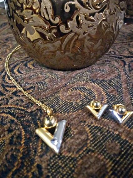 Set De Collares Y Aretes Louis Vuitton Para Mujer