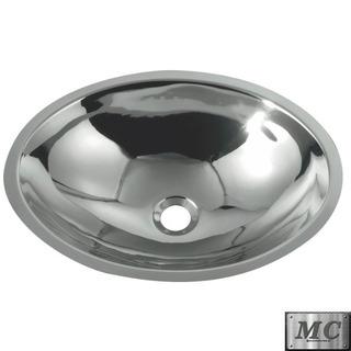Bacha Baño Vanitory Ac Inox 38cm Espejo M038 Premium No O370