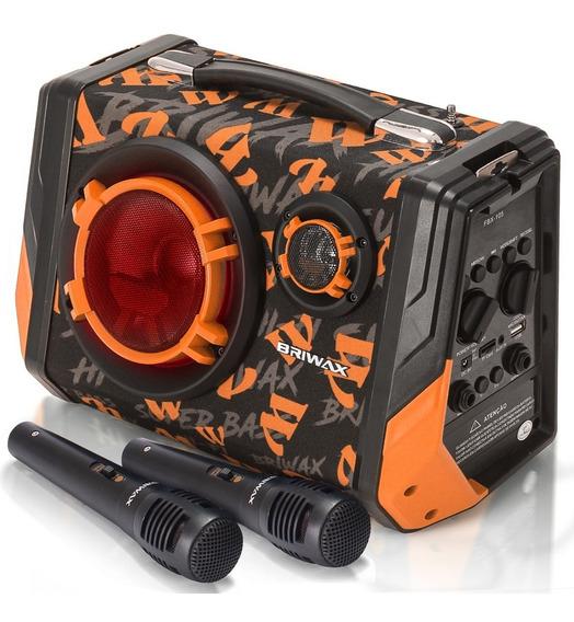 Caixa Som Bluetooth Portátil Amplificada Mp3 Usb Microfone