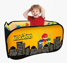 Piscina Infantil Quadrada Com 100 Bolinhas Os Maskarados