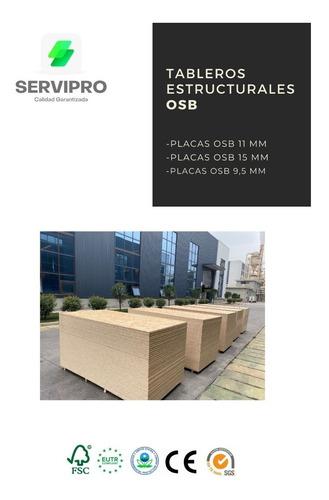 Imagen 1 de 9 de Osb Plancha Estructural 9.5 Mm En Pallet