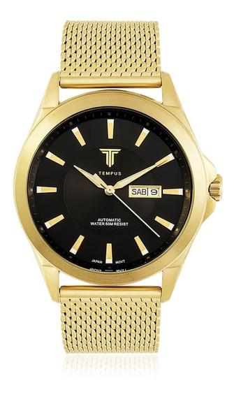 Relógio Masculino Tempus Zw20127u Gold Black