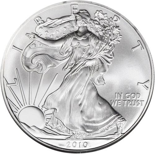 Moneda De Color Plata Del Aguila Americana: Dólar Americano