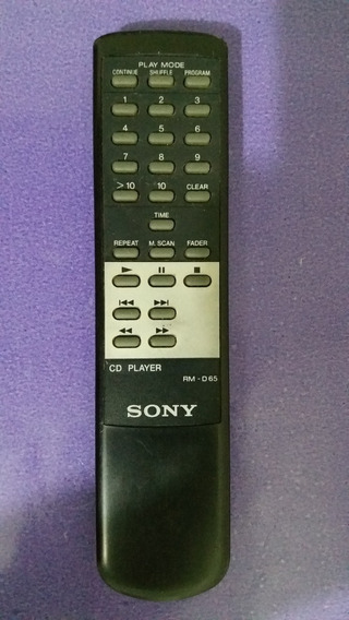Controle Remoto Original Do Cd Player Sony M28
