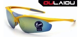 Oculos Oulaiou Spider Amarelo Ciclista Ciclismo Sol Corrida