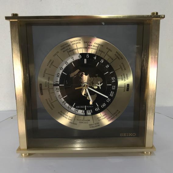 Hermoso Reloj Zonas Horario Mund Seiko Vintage Japan Quartz