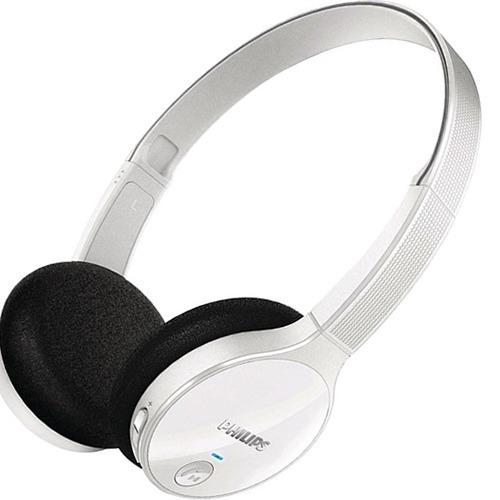 Fone De Ouvido Bluetooth Philips Estéreo Cor Branco Shb4000