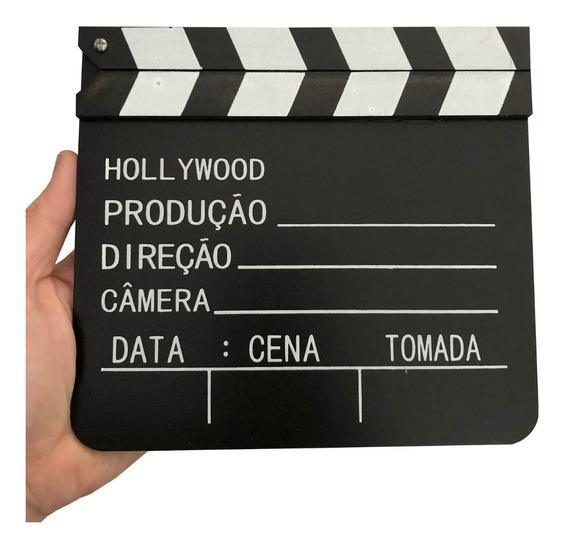 Mini Claquete De Cinema P/ Decoração E Filmagens 20cm X 18cm