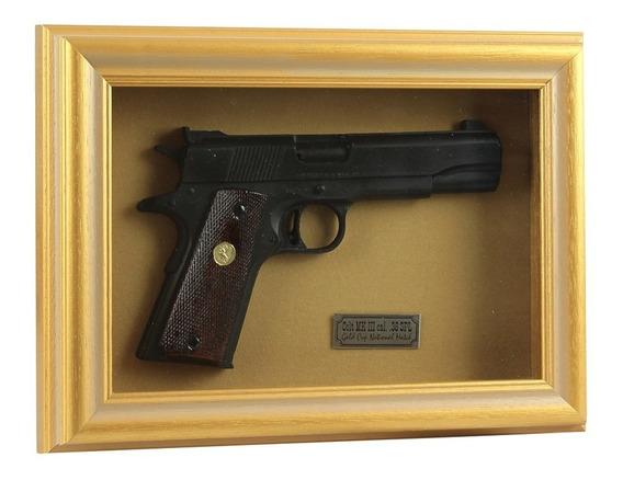 Quadro Decorativo Colt Mk Iii Cal. .38 Spl - Com Moldura