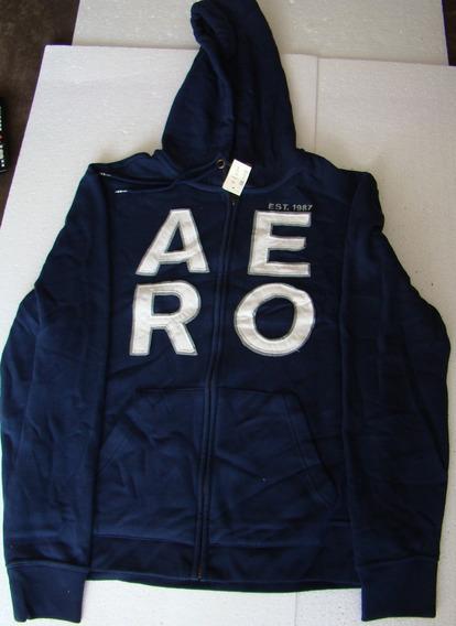 Blusa Casaco De Moletom Azul M Aeropostale Importada Eua