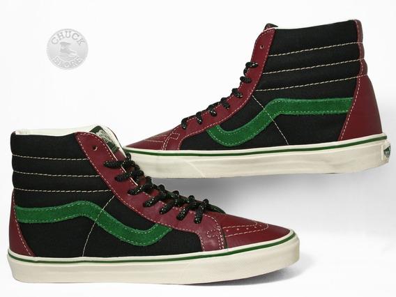 Zapatilas Vans Sk8 Hi Leather Caberne
