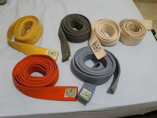 Faixas De Judô 2brancas, Cinza, Azul, Amarela E Laranja