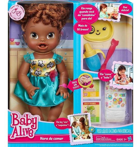 Baby Alive Hora De Comer Negra Fala Em Português Hasbro