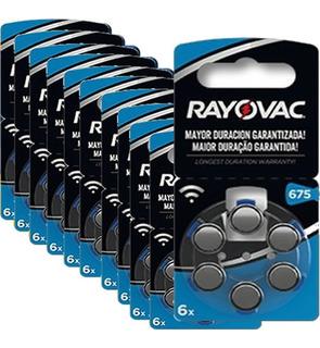 30 Pilas Para Audifono Rayovac Nro. 675 Pr44 1,4v Cinc Aire