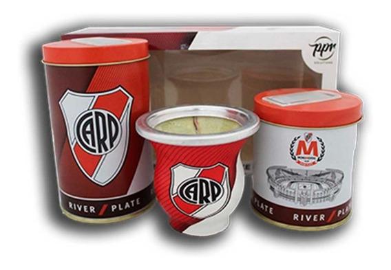 Set De Mate River Plate - Licencia Oficial