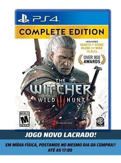 Jogo The Witcher 3 Complete Edition Ps4 Mídia Física Lacrado