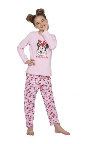 Pijama Invierno Pantalon Disney Minnie Nena Cocot 20307