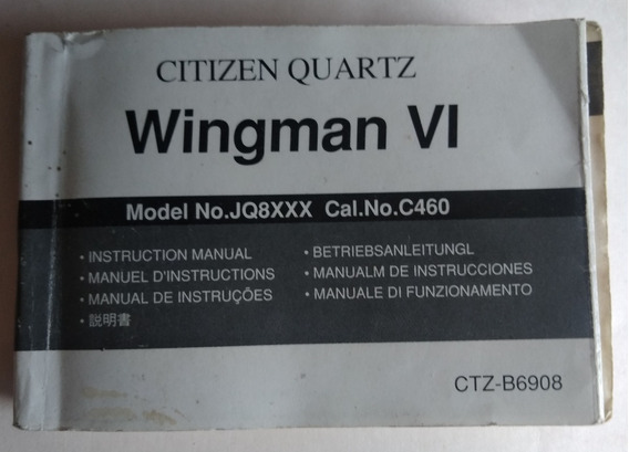 Manual Relógio Citizen Wingman Vi