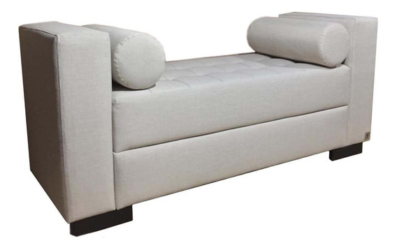 Recamier Queen Almofada Cilíndrica Alce Couch Linho Crú 160cm