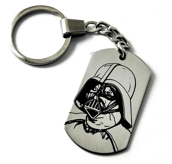 Llavero Placa Militar Dog Tag Darth Vader Star Wars