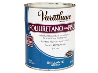 Poliuretano Varathane Pisos De Madera Brillante 3,785l