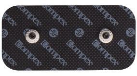 Kit Com 2 Eletrodo Compex 5 X 10 + 4 Eletrodo 5 X 5 Preto