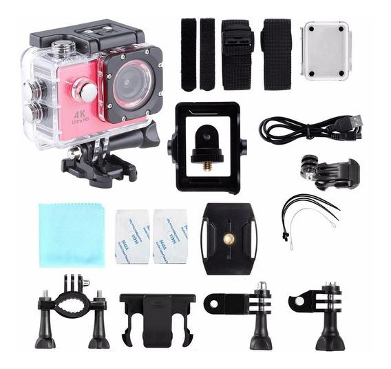 Mini Camera Ação Filmadora 4k Sport Capacete Mergulho Wifi