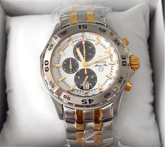 Relógio Bulova Star Misto Funcional Original 12x