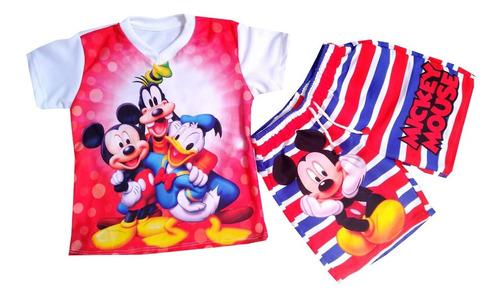 Conjunto Pantaloneta Mickey Mouse - Mc