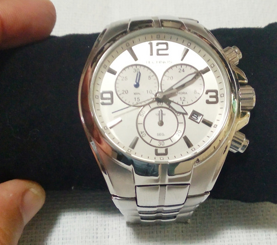 Relógio De Luxo Technos Masculino Prata Original Cronografo