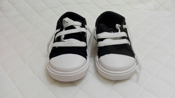 Zapatillas Negras Con Puntera Blanca, Talle 21, Cheeky