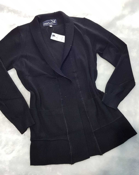 Cárdigan Suéter Negro Dama