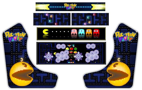 Arte P/ Impressão De Adesivos. Arcade Bartop Weecade Pac Man