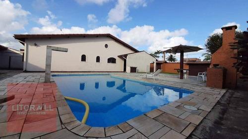Imagem 1 de 28 de Casa Com  Piscina, 4 Dormitórios À Venda, 219 M² Por R$ 700.000 - Jardim Grandesp - Itanhaém/sp - Ca1769
