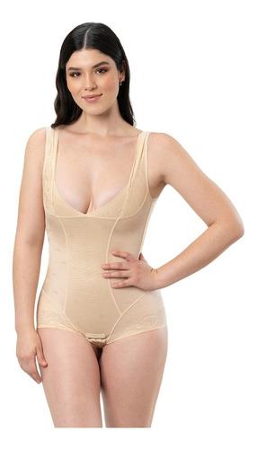 Imagen 1 de 6 de Faja Body Completa Para Dama, Afina La Cintura, Moldea La Figura, Lujosa Tela Suave Al Tacto, Cómoda, Senos Libres