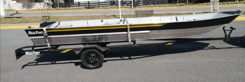 Imagem 1 de 9 de Barco De Aluminio Semichata 6 Mts E Carretinha