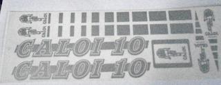 Adesivo Caloi 10 Retro Prata Nº1 .