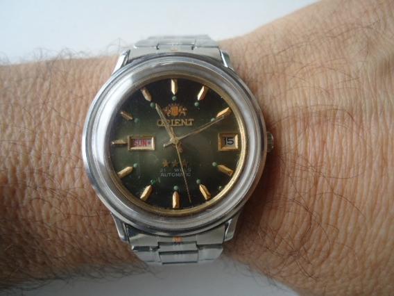 Relógio Orient Automático Masculino Antigo E Raro Perfeito
