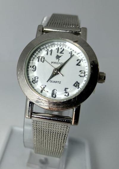 Relógio Potenzia E1183l Prata Fundo Branco