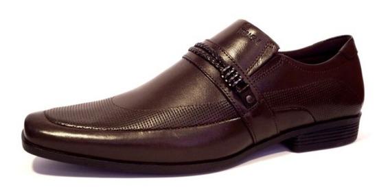 Sapato Masculino Ferracini Couro Sem Cadarço Café - Liverpool 4061-281h