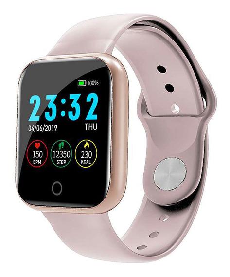 Relógio I5 Inteligente Esporte Smart Watch Rosa