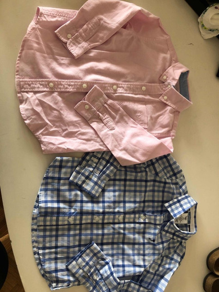 Camisas De Nene Usadas Impecables Jacandi Y Jane & Jack 3/4