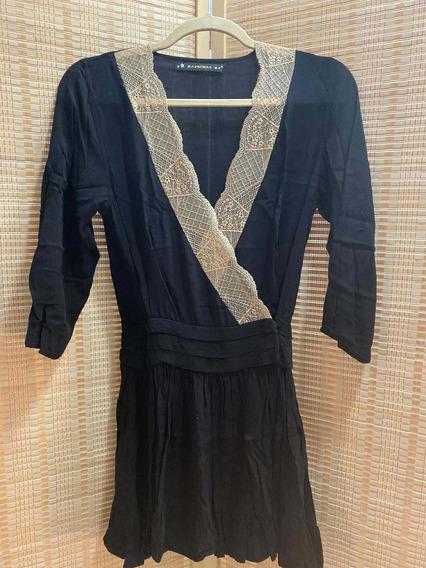 Rapsodia! Vestido Negro Nuevo Sin Uso!