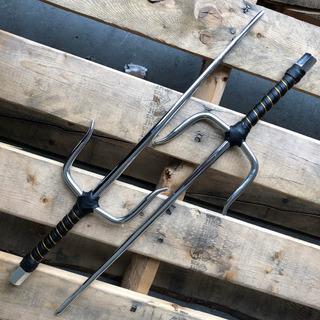 Par De Sais De Acero Full Tang 100% Funcional 49.5cm 2311c