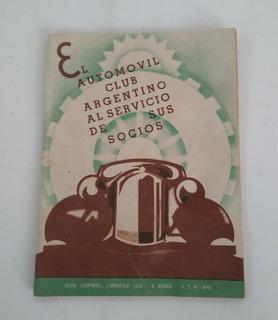 Antiguo Librito Revista Del Automóvil Club Argentino