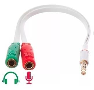 Cabo Adaptador P2, P3 Fone Microfone Lapela Celular, Play4