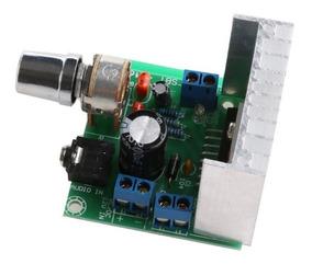 Kit Placa Amplificador 15w+15w Rms Tda7297 Dc 12v 2.0 Dupla