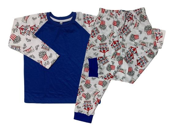 Pijama Infantil De Frio Menina/menino Inverno Longo 1 Ao 16