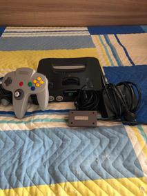Nintendo 64 - Console, Fonte, Controle E Cabo Rf