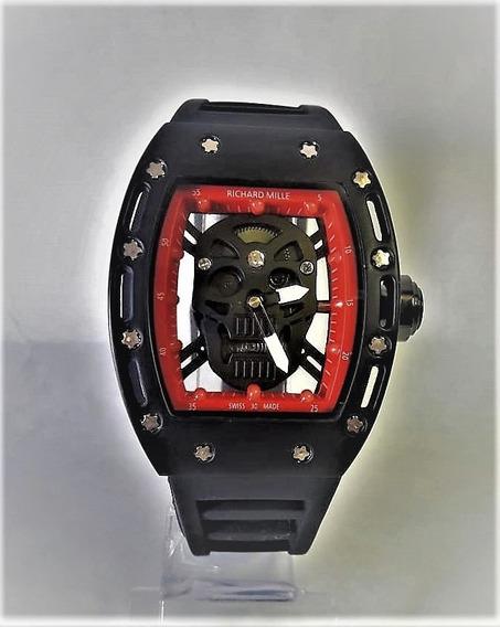 Relógio Skull Caveira Masculino E Feminino